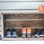 DIY Covered River Rock Boot Tray