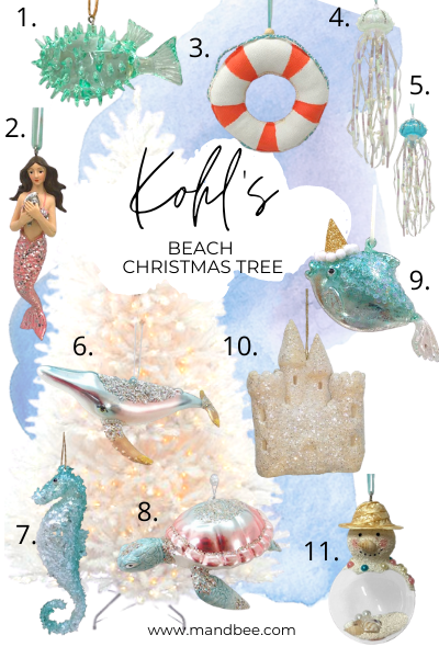 Kohl's Beach Christmas Tree Inspiration